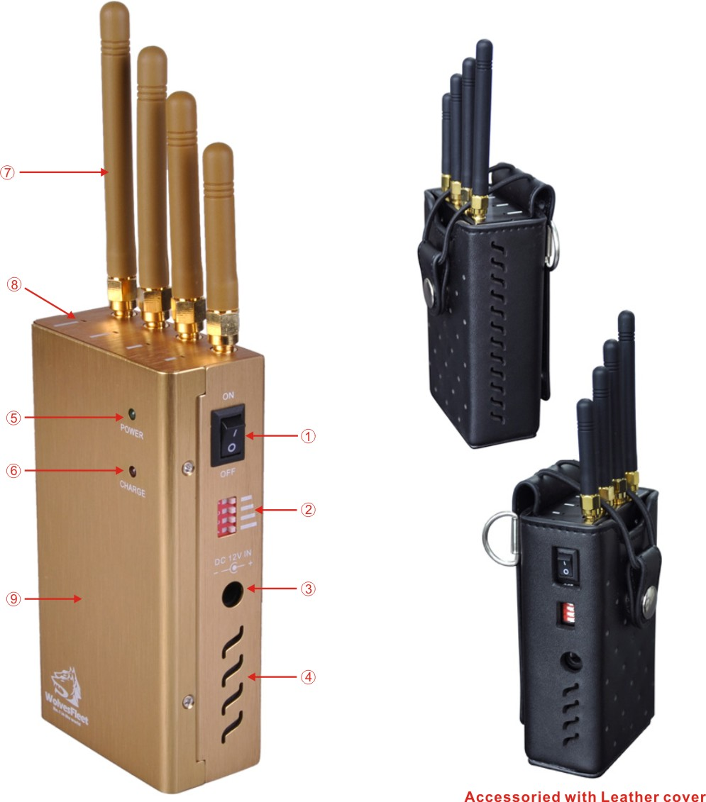 Handheld RF Radio Jammer , mobile jammer law